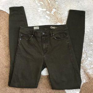 Gap Resolution True Skinny Jeans in Dark Olive